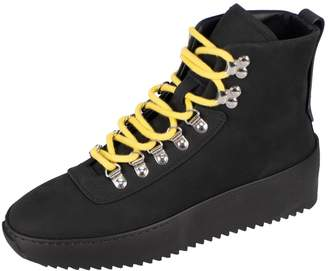 Fear Of God Black Leather Trainers