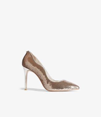Karen Millen Sequined Court Shoes