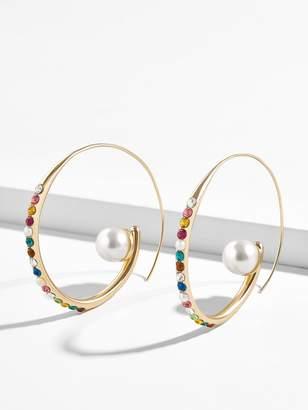 BaubleBar Delisa Pearl Hoop Earrings