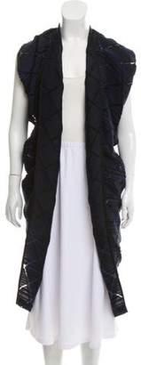 Zero Maria Cornejo Textured Open-Front Cardigan