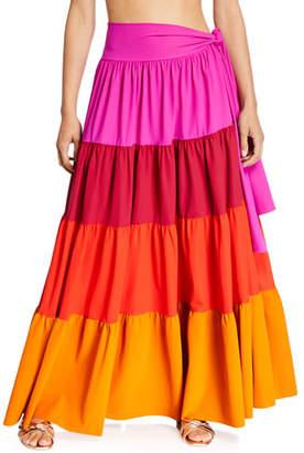 Chiara Boni Vittoria Convertible Colorblock Maxi Skirt/Dress