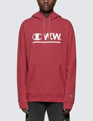 Wood Wood Champion Reverse Weave x Champion Logo Hoodie