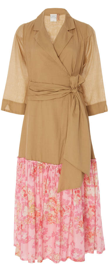 La Costa del Algodón Dominika Two-Tone Dress