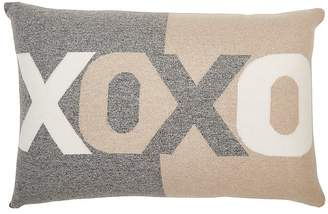 "Rani Arabella ""XOXO"" Cashmere-Blend Pillow"