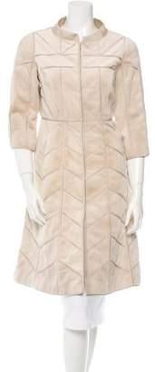 J. Mendel Mink Patchwork Coat