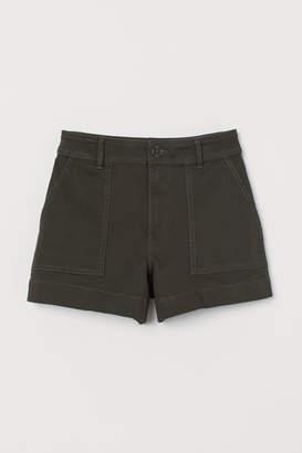 H&M Cotton Twill Shorts - Green