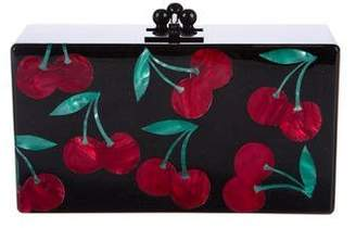 Edie Parker Obsidian Cherries Clutch