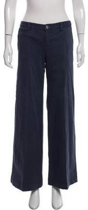 Nili Lotan Mid-Rise Wide-Leg Jeans