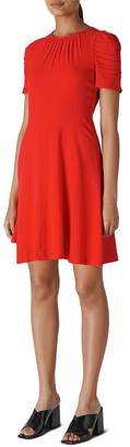 Whistles Simone Ruched Mini Dress