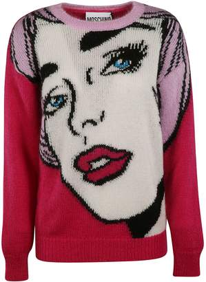 Moschino Knitted Face Style Sweater