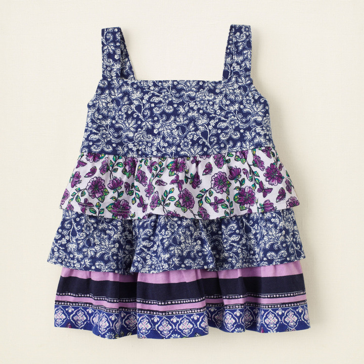 Children's Place Tiered mixed print tank top