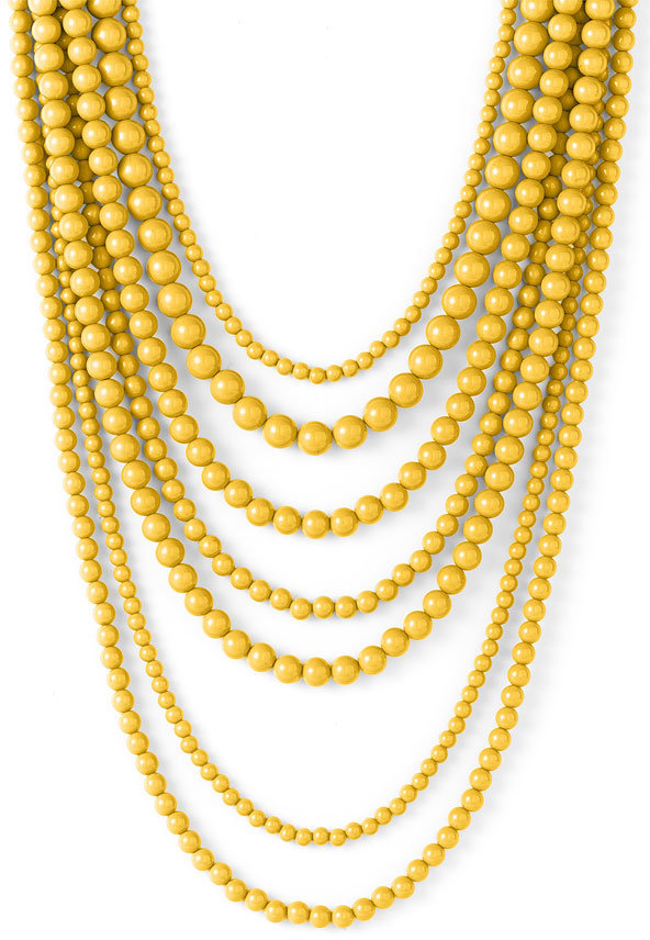 RJ Graziano Long Beaded Layer Necklace