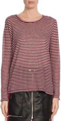 Etoile Isabel Marant Kaaron Striped Long-Sleeve Tee