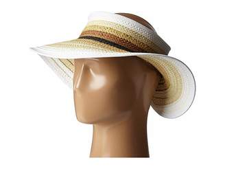 San Diego Hat Company PBV007 Paper Braid Adjustable Roll Up Visor with Ribbon Edge