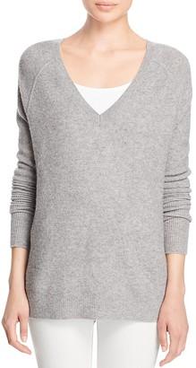 J Brand Bache Wool-Cashmere V-Neck Sweater $268 thestylecure.com
