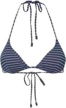 The Upside striped bikini top
