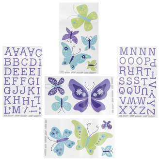 NoJo Beautiful Butterfly Decals by Crown Crafts
