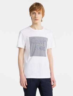 Calvin Klein slim fit graphic logo t-shirt