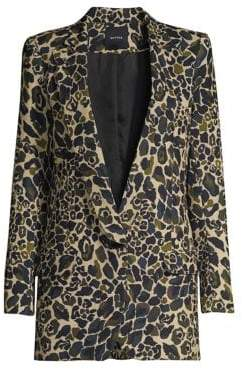 Smythe Leopard Camo Longline Blazer
