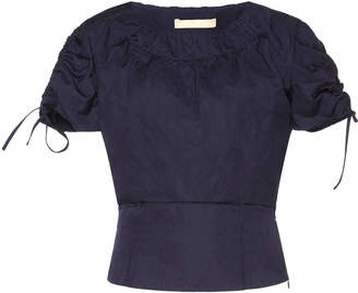 Brock Collection Pera Taffeta Short Sleeve Top