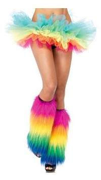 Leg Avenue Rainbow Leg Warmers 3925 Rainbow