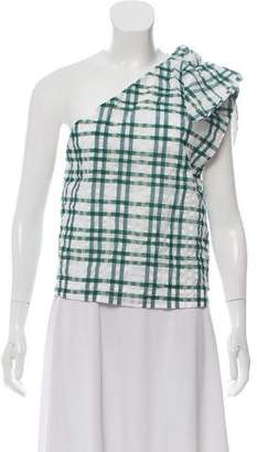 Rosie Assoulin Knot-Accented One-Shoulder Top w/ Tags