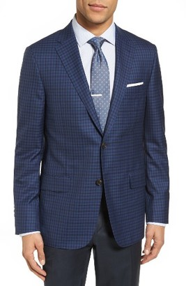 Men's Hickey Freeman Beacon Classic Fit Check Wool & Silk Sport Coat $1,395 thestylecure.com
