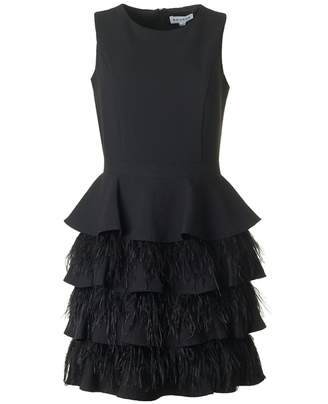 Bourne Feather And Ruffle Bottom Dress