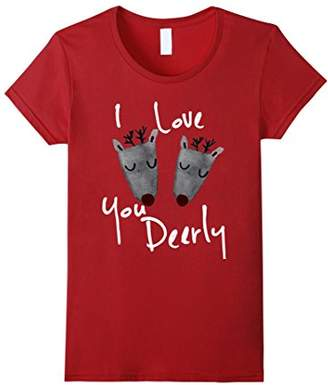 I love you Deerly holiday TEES