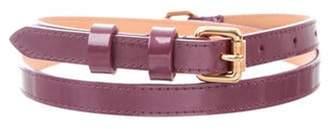 Louis Vuitton Vernis Belt Purple Vernis Belt