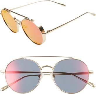 CLYDE BONNIE Olympic 53mm Polarized Aviator Sunglasses