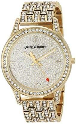 Juicy Couture Black Label Women's Swarovski Crystal Accented -Tone Bracelet Watch