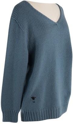 Christian Dior Blue Cashmere Knitwear