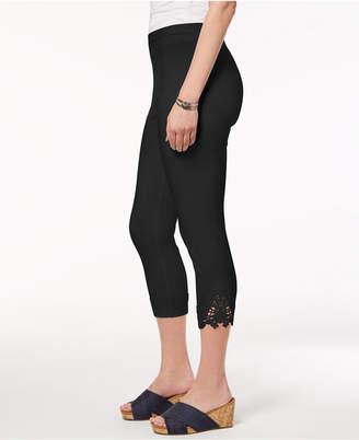 Style&Co. Style & Co Petite Crochet-Hem Capri Leggings
