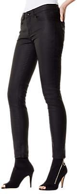 Karen Millen Coated Skinny Jeans, Black