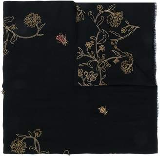 Janavi Bush Bugs embroidered scarf