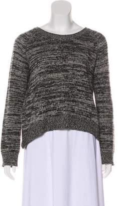 360 Cashmere Wool-Blend Scoop Neck Sweater Grey Wool-Blend Scoop Neck Sweater