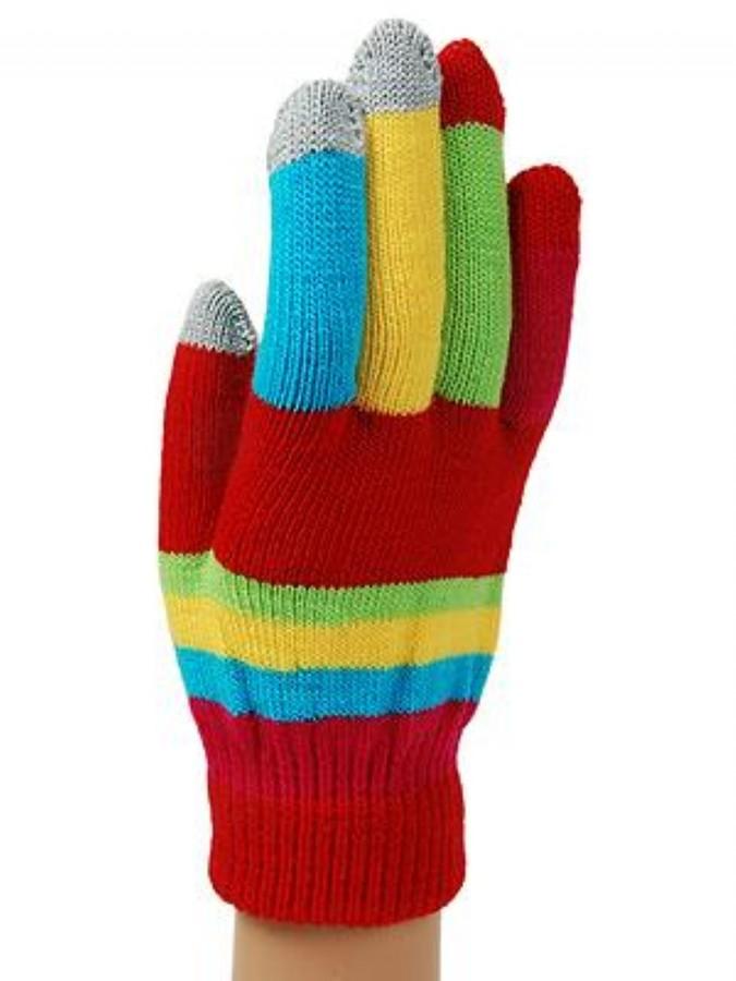 Funky Junque Color Block Smart Tip Glove