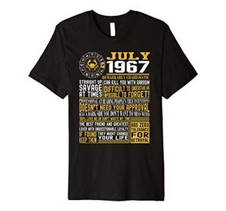 Best Born in July 1967 Facts Shirts for Mens