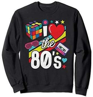 I Love The 80s Sweatshirt 80s Clothes for Women and Men