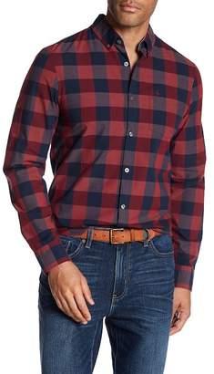 Original Penguin Long Sleeve P55 End On Plaid Heritage Slim Fit Shirt