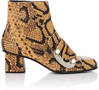 Proenza Schouler Women's Metal-Detailed Snakeskin Ankle Boots