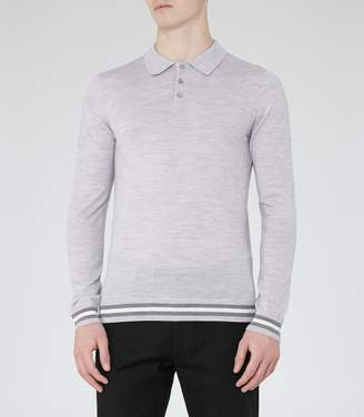 Reiss Antonio Piped Wool Polo Shirt