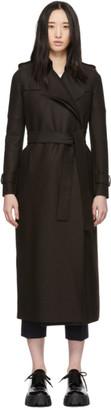 Harris Wharf London Brown Pressed Wool Long Coat
