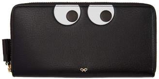 Anya Hindmarch Black Large Eyes Zip Around Wallet