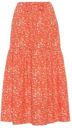 5adf1d7606bfd6 Ulla Johnson Pari printed cotton maxi skirt