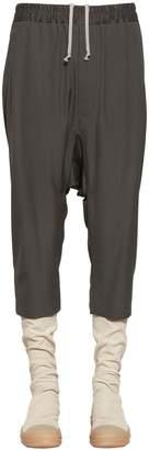 Rick Owens Cropped Light Viscose & Wool Blend Pants