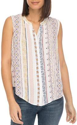 Bobeau B Collection by Fiona Sleeveless Printed Top