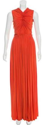 Jason Wu Pleated Maxi Dress Orange Pleated Maxi Dress