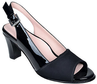Taryn Rose Fortula Patent Leather Slingback Pumps $229 thestylecure.com